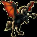 Pegasus Paint Horse Dark bay Tobiano